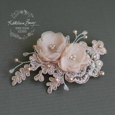 Kali Floral Lace Hairpiece Dainty Hair Clip