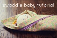 Swaddle baby dolls! What a sweet idea for little ones, or even a new baby gift.