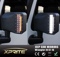 2X Off Road Side Mirror Signal LED Turn Lights For 2007-2016 Jeep Wrangler JK