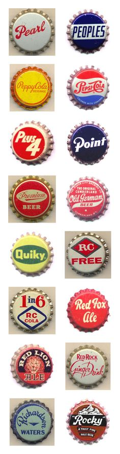 Kenny Yohn's vintage bottle cap collection.