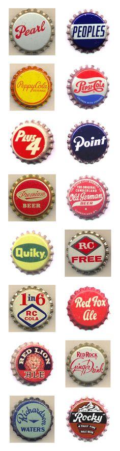 Kenny Yohn's vintage bottle cap collection.