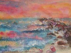 Title West End 2 Remembered - Jones Beach State Park Artist Ellen Levinson Medium Painting - Watercolor Beach Frame, Beach Wall Art, Framed Art Prints, Fine Art Prints, Jones Beach, Cityscape Art, Sale Poster, Old Master, Contemporary Artists