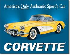 1958 Chevy Corvette Stingray Sign....LOVE!