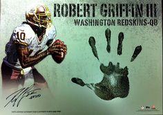 Triple Threads Autographed handprint Rookie Cards Mookie Wilson, Mark Messier, Sandy Koufax, Joe Namath, Hank Aaron, Larry Bird, Derek Jeter, Washington Redskins