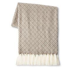 Threshold™ Metallic Geo Sweater Knit Throw - Silver