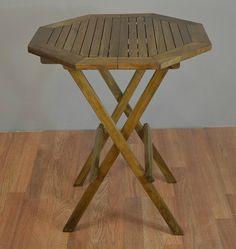 Teak Octagonal Patio Folding Table