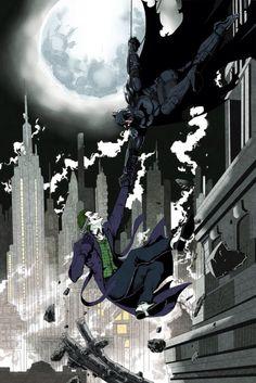 Batman and the Joker by shark-bat