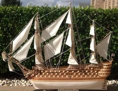 Pa's version of the 1737 victory Sailing Ships, Victorious, Boat, Dinghy, Boats, Tall Ships