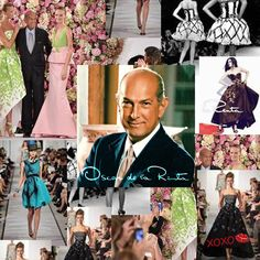 "The World Of Fashion Lost A  Famous Iconic Designer! A Glance At Oscar De La Renta's runway over the years. ""Fashion is about the present and the immediate future. I think in terms of now"" - Oscar De La Renta #fashion #fashionworld #fashionhouse #designer #RIP #elegantstyle #runaway #WWD #charisma #classy #legendary #greatdesigner Born: #1932 Died #2014 #age82"
