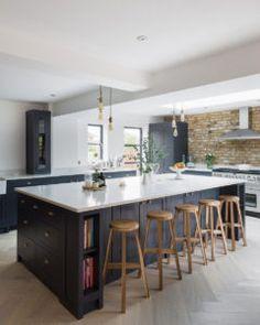 Residential Kitchen - London, UK - Brick Slips Open Plan Kitchen Living Room, Kitchen Design Open, Kitchen Dining Living, Open Concept Kitchen, Home Decor Kitchen, Interior Design Kitchen, New Kitchen, Kitchen Ideas, Kitchen Designs
