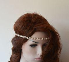 Wedding Headband Rhinestone and Pearl Headbands  Bridal