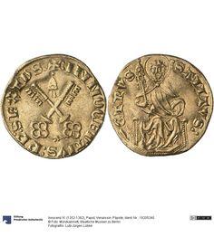 Venaissin: Päpste Münze Innocenz VI. (1352-1362), Papst, Comtat, Münzherr 1352-1362 Land: Frankreich (Land) Region: Vaucluse (Region) Nominal: Dukat, Material: Gold, Druckverfahren: geprägt Gewicht: 3,43 g Durchmesser: 21 mm