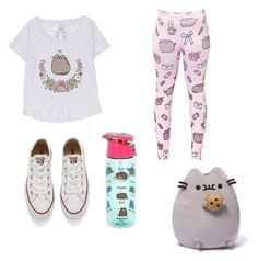 """""""pusheen outfit contest"""" by kalisplayer on Polyvore featuring Pusheen, Converse and Gund"""