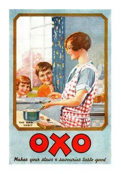 OXO makes your stews and savouries taste good! ~ 1928 ad