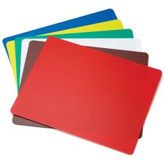 "Tablecraft FCB1520A 15"" x 20"" Flexible Cutting Board Set 6 Boards / Pack - Assorted Colors"