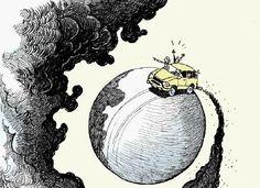 uitlaatgassen : heel slecht voor het milieu komt veel CO2 vrij.