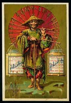 1878. Japanese (No. 3) trading card issued by Liebig Extract of Beef Company. S87.