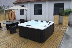 Poseidon Zspas Hot Tub  in open space