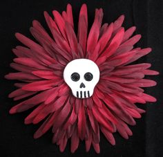 Hair Clip / Brooch Burgundy Flower with by ninjavspirategifts, $16.00
