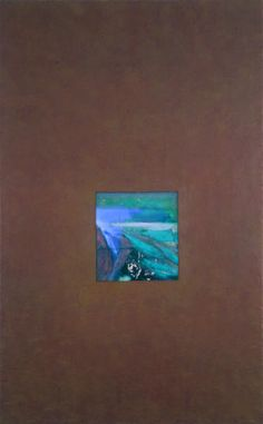 "UNTITLED ABSTRACT, MIXED MEDIA ON CANVAS, 60""x38"" keywords: abstract, conceptual abstraction, void, window, passage, color, surface, texture, mixed media, canvas"