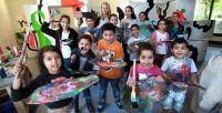 25 Kinder machten diesmal beim Sommerprojekt mit. Viele Jungen und Mädchen kommen öfter zu den Aktionen der Baukinderkultur.