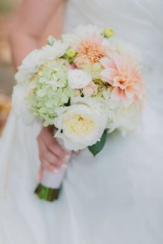 Fluffy pastel bouquet: Photography : Tori Watson Photography Read More on SMP: http://www.stylemepretty.com/virginia-weddings/afton/2016/07/12/youve-never-seen-a-farm-wedding-as-pretty-as-this-intimate-fall-day/