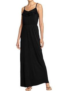 Got this dress for only 24 bucks! Women's Tiered-Ruffle Yoke Maxi Dresses