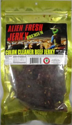 Discover how Alien Fresh Jerky – Colon Cleaner beef jerky fared in a jerky review. http://jerkyingredients.com/2016/01/10/alien-fresh-jerky-colon-cleaner-beef-jerky/ @alienfreshjerky #alienfreshjerky #review #food #jerky #ingredients #jerkyingredients #jerkyreview #paleo #paleofood #snack #protein #snackfood #foodreview #coloncleaner #habaneropepper