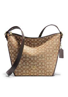 COACH Signature Duffel Shoulder Bag 0341738d1bf