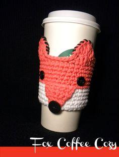 Fox Coffee Cozy Crochet Pattern