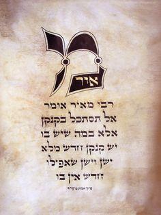 https://flic.kr/p/bP6waM | Meir | Ink & acrylic on parchment Gold Leaf 540X430 mm Ktav Beit Yosef