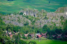 Toraja house, in Sulawesi, Indonesia