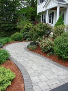 Where would your walkway lead you? This beautiful walkway was installed using Cambridge Pavingstones with ArmorTec. Where would your walkway lead you? This beautiful walkway was installed using Cambridge Pavingstones with ArmorTec.