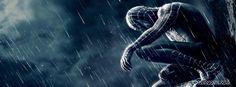 dark spidey spider man 3 venom suite cool fb cover rain. cool dark spidey spider man facebook timeline profile movie covers. stunning spider man in rain profile cover