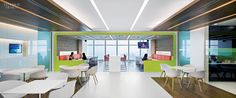 Shaw Contract Group No. Idea: This regional office for Clifford Chance conforms to a law firms global guidelines but injects its own personality in the cafeteria via walnut and citrus accents. Photo by Owen Raggett. Corporate Interiors, Corporate Design, Office Interiors, Law Office Design, L Office, Smart Office, Interior Work, Office Interior Design, Cafe Interior