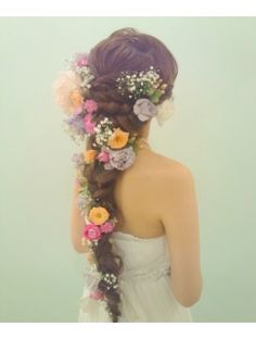 flowers in hair - fairy tale wedding