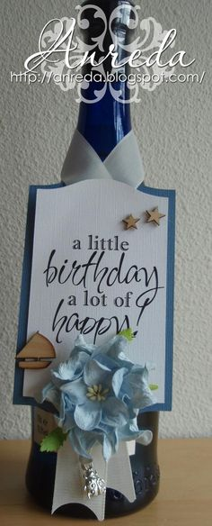 A little birthday, a lot of happy !  Birthday Tag  Bottle Tag