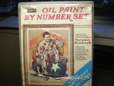 Vintage 1970's Oil Paint By Numbers - Norman Rockwell Circus Clown and Dog by 20thCenturyCool on Etsy