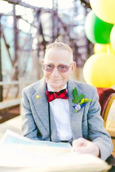 "When a couple is celebrating 61 years of marriage with pictures inspired by the Pixar movie UP! A series of adorable photographs featuring ""Nina & Gramps"", performed by their granddaughter, Lauren Wells and photographer Cambria Grace, as a wedding anniversary gift…"