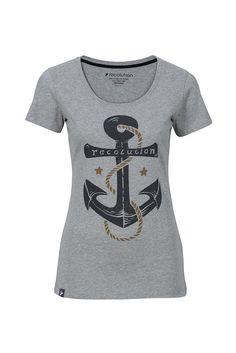 c19a8127d6de2f  recolution  Fairtrade  Shirt  ANKER grau  Bio  Baumwolle T-Shirt