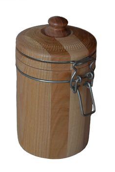 Dose mit Deckel und Verschluß Compost, Wood Lathe, Turning, Composters