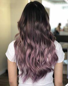 Long Shaggy Bob - Brown Ombre Hair Solutions for Any Taste - The Trending Hairstyle Lavender Hair, Lilac Hair, Hair Color Purple, Hair Dye Colors, Cool Hair Color, Pastel Hair, Green Hair, Blue Hair, Ombré Hair