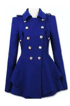 Double-breasted Cashmere Coat - love this style and the color!