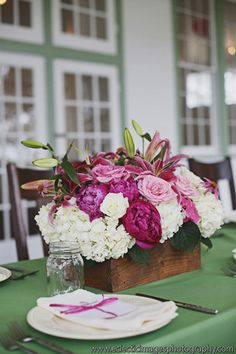 #Trough - A long, rectangular container of short to medium height. {Valerie Miller Events}