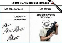 En cas d'apparition de zombies. #Gamers #Jeux
