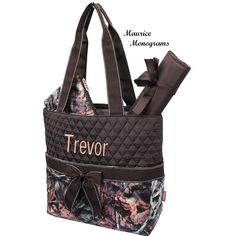 Personalized Camo Diaper Bag Set  Monogrammed by MauriceMonograms, $36.00