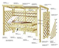 Portici & Gazebo - Grigliati in legno da giardino | Portico ...