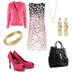 Pink and Black Friday, created by girlinnashville on Polyvore