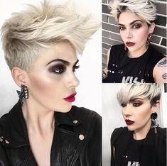 15x Sexy En Hot In Platina Blond! - Korte Kapsels