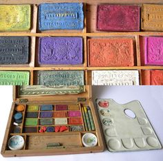 Antique French Paint Set